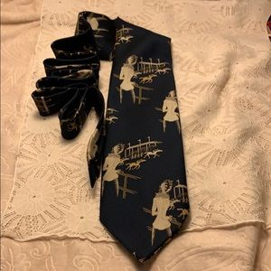 """- """"Lady at the Derby"""" Tie Navy and Hold and …"""